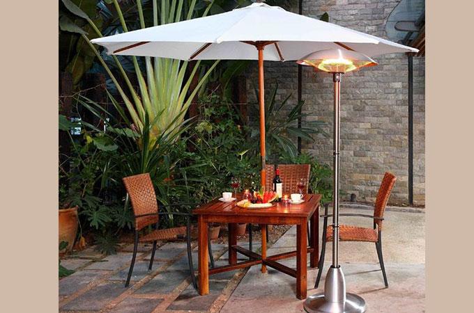 achat parasol chauffant electrique