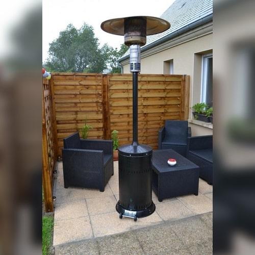 parasol chauffant gaz ou électrique